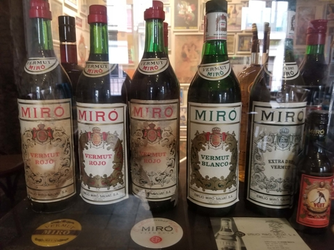 Vintage Vermut Miro bottles at the Museu de Vermut - 11 Things You Didn't Know About Vermouth