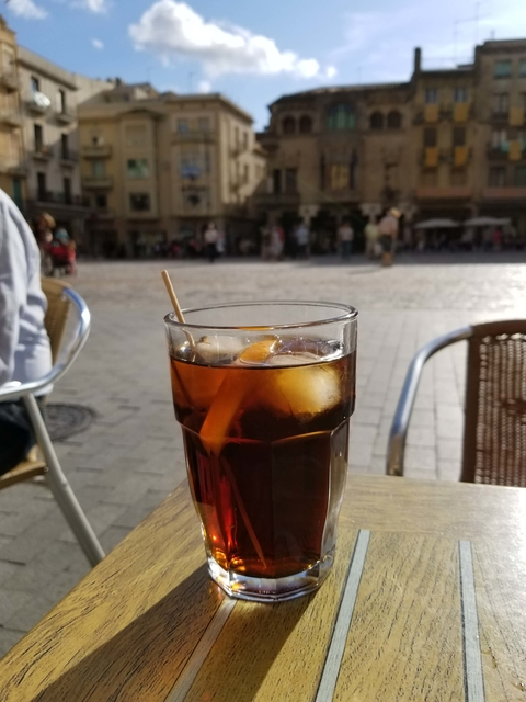 Enjoying Miro Vermut over ice in Reus Spain - 11 Things You Didn't Know About Vermouth