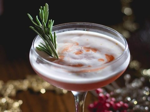 Spiced Cranberry Sour recipe from Behind the Bar - 18 Winter Cocktails for the New Year