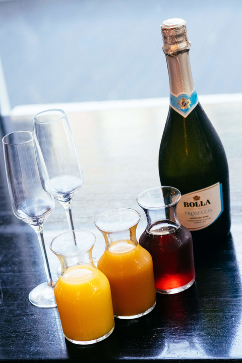 The Candy Apple Café & Cocktails Bolla Prosecco mimosas at brunch - Fizz, Pop, Mimosa!