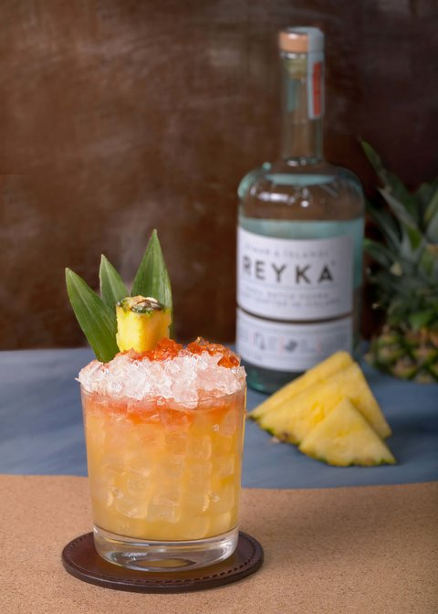 Lightning on My Feet cocktail by Reyka Vodka - Super Bowl 52 drink recipes