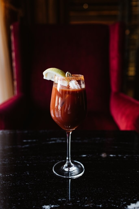 Capitol Mary cocktail at the St. Regis Hotel Washington, D.C. - Bloody Marys with ABV (Anything but Vodka)
