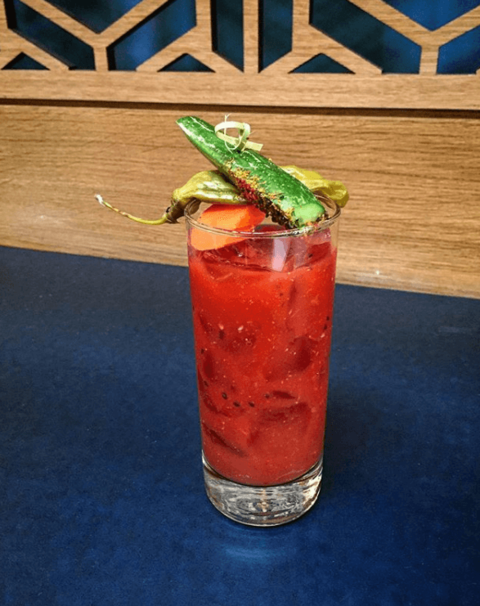 Bloody Mariko cocktail by Jake Freed at The Periodic Table - Bloody Marys with ABV (Anything but Vodka)