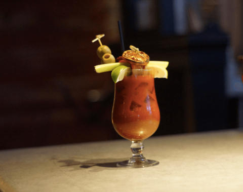 The Bloody Merida cocktail by Kyle Darrow at Red Owl Tavern - Bloody Marys with ABV (Anything but Vodka)