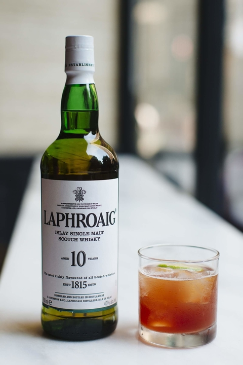 Laphroaig Globe Trotter cocktail - International Scotch Day recipes