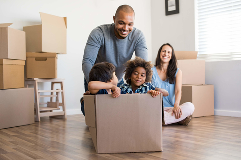 Family moving into new house - Commemorate Life-stage Moments and Build a Loyal Clientele