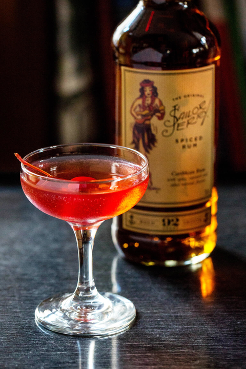 Sailor Jerry Cherry cocktail by Sailor Jerry Spiced Rum - 26 Valentine's Day Cocktails