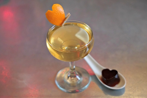 DC Tinder Negroni cocktail by Nick Farrell at Iron Gate in Washington, D.C. - This Valentine's Day Bar Promotion Sets Guests' Hearts Aflutter
