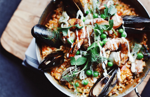 Seafood Paella at El Five in Denver, Colorado - How to Curate Your Instagram Presence