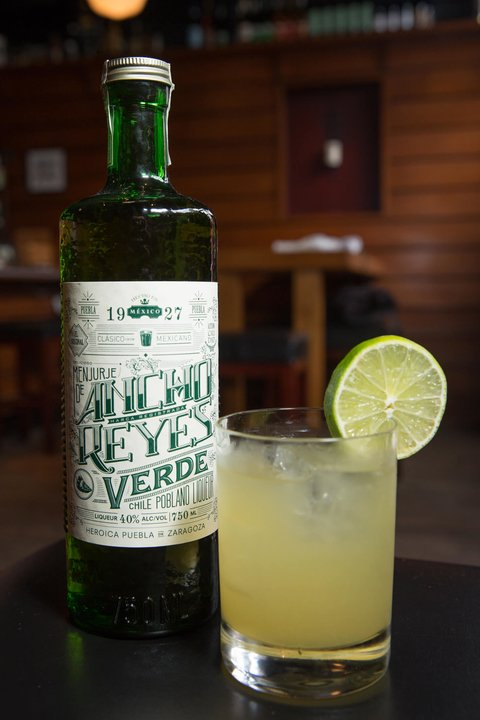 Spicy Ancho Verde Margarita by Ancho Reyes - Celebrating National Margarita Day