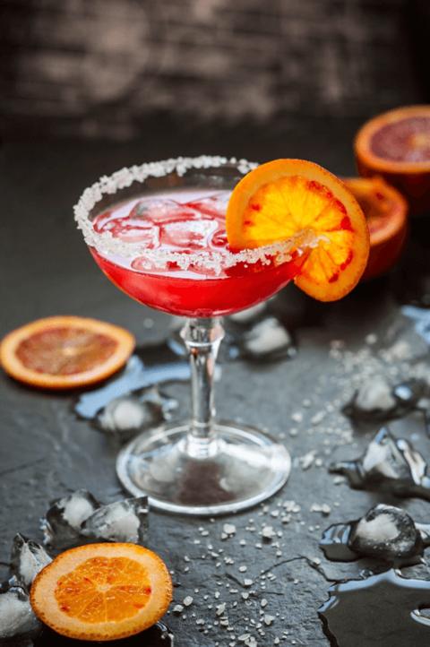 Blood Orange Margarita by Tequila Corralejo - Celebrating National Margarita Day