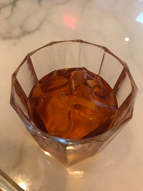 The Monarch Negroni with branded ice - Branding Through Branding