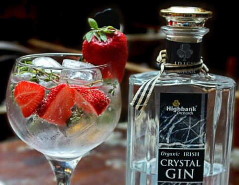 Highbank Orchards & Distillery Salt Yard Gin with Strawberry and Thyme cocktail -