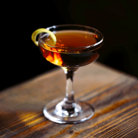 Prizefight Whiskey Saratoga cocktail -
