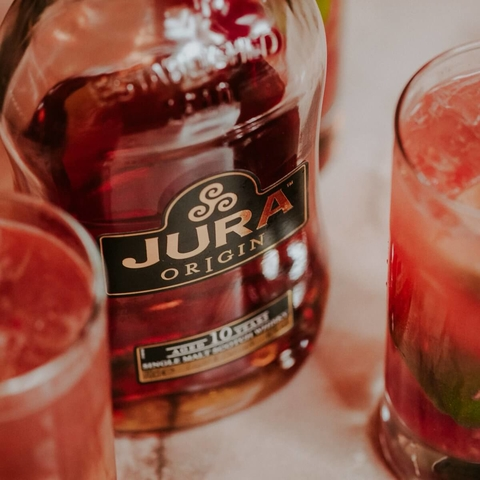 Jura Whisky Raspberry Mule cocktail -