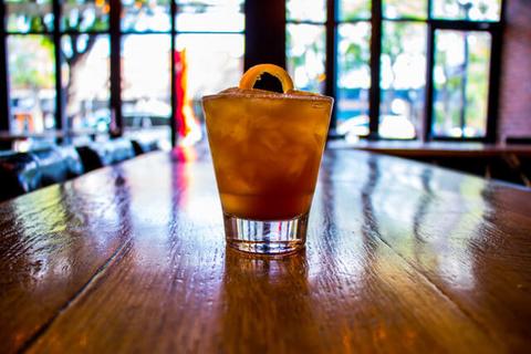 Sierra Norte Mexican Manhattan cocktail -