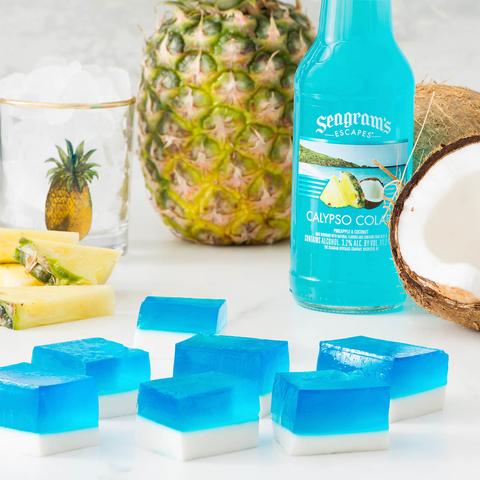 Seagram's Escapes Layered Calypso Colada Cream Jelly Cubes -