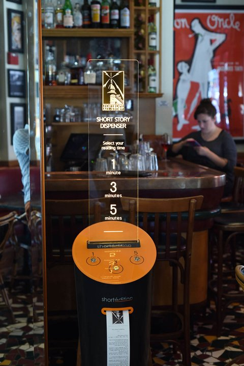 Short Edition short story machine at Francis Ford Coppola's Cafe Zoetrope -
