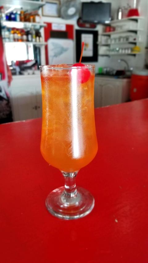 Rum punch at Braddie's Bar -