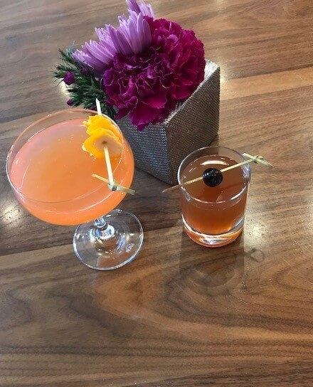 His and Hers cocktails at Loews Chicago Hotel -