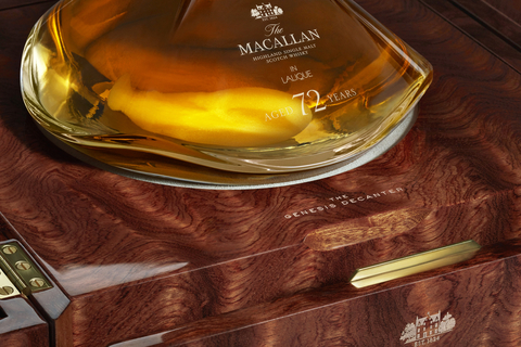 The Macallan 72 Years Old in Lalique, The Genesis Decanter box detail