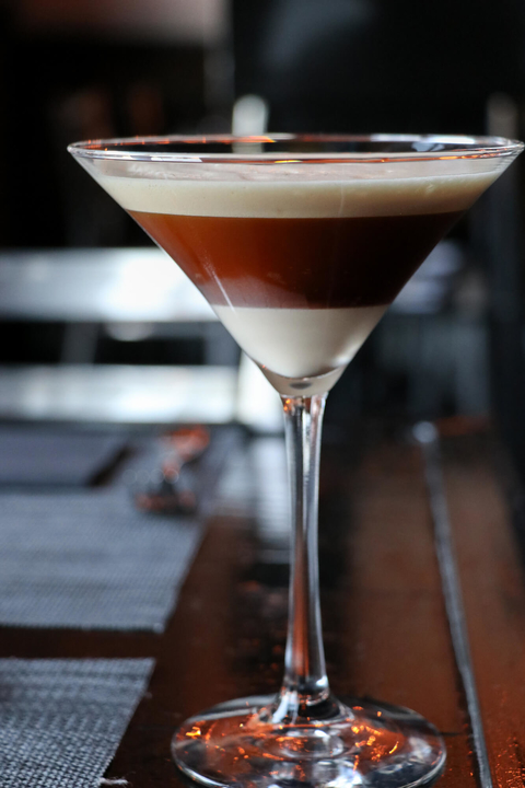 Vietnamese Coffee Martini cocktail at the Black Sheep