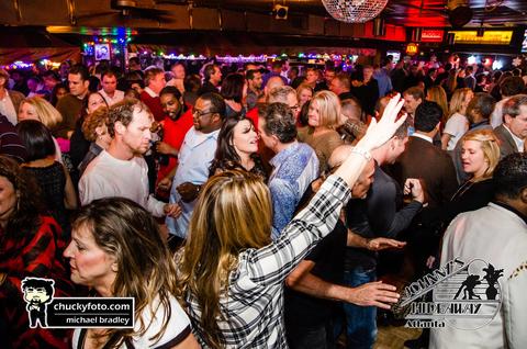 Crowd inside Johnny's Hideaway nightclub in Atlanta, GA -
