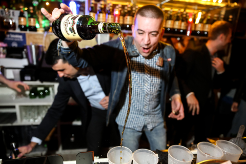 Amaro Montenegro This is Not a Convent bartender pouring drinks