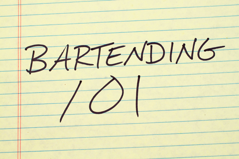 Bartending 101 college ruled paper