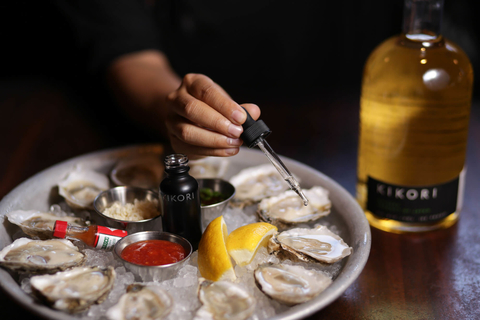 Kikori Whiskey and oysters on the half shell by Antonia Lofaso at Black Market Liquor Bar