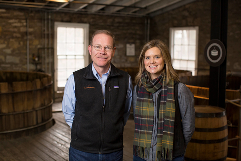 Woodford Reserve Master Distiller Chris Morris and Assistant Master Distiller Elizabeth McCall