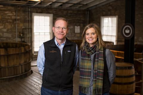 Woodford Reserve Master Distiller Chris Morris and Assistant Master Distiller Elizabeth McCall