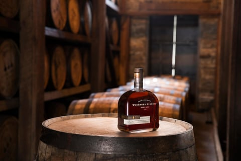 Woodford Reserve Double Oaked on barrel at warehouse