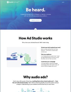 Spotify radio ads