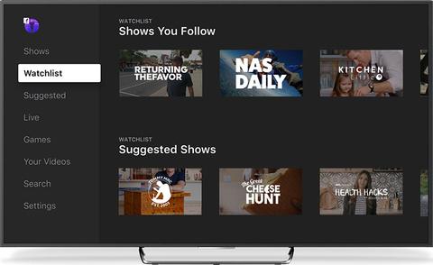 Screenshot of Facebook Watch video platform