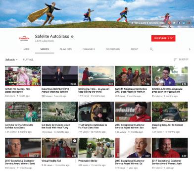 Safelite Youtube channel