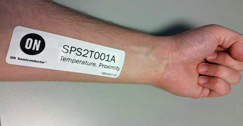 Fig. 3: Wireless body-temperature sensor tags are quick to set up, comfortable, and convenient.