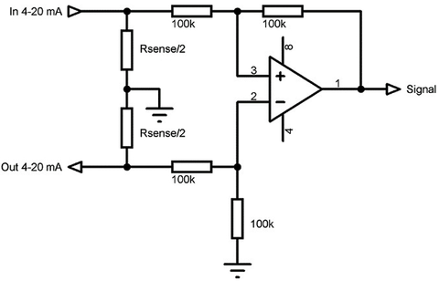 Implementing A 4-mA to 20-mA Sensor Interface | Sensors Magazine on rs485 wiring diagram, pwm wiring diagram, fluorescent wiring diagram, rtd wiring diagram, light wiring diagram, pt100 wiring diagram, thermocouple wiring diagram, canopen wiring diagram, modbus wiring diagram, analog wiring diagram, potentiometer wiring diagram, thermistor wiring diagram, bridge wiring diagram, pressure wiring diagram, dry contact wiring diagram, pnp wiring diagram, 4 20ma wiring diagram, pulse wiring diagram, npn wiring diagram, rs-232 wiring diagram,