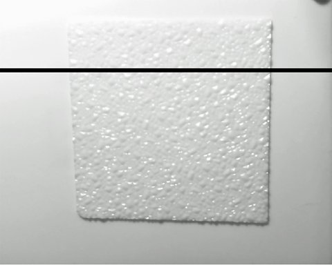 Fig 1: Textured plastic over a plain background.