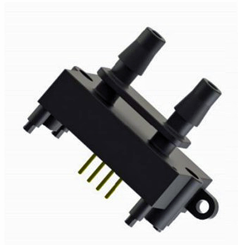 Fig. 2: MDP200 Differential Pressure Device runs on 3.3V with about 7ma of power. It is available in both a manifold and barb fitted package. Get the spec here.