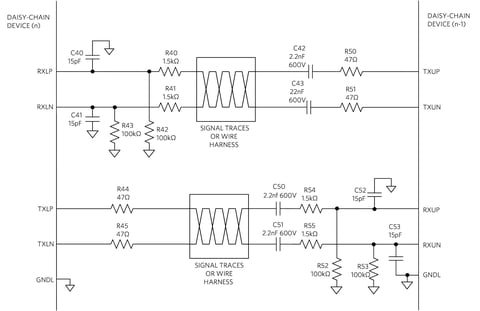 Fig. 4: UART Capacitive Isolation Between Modules.