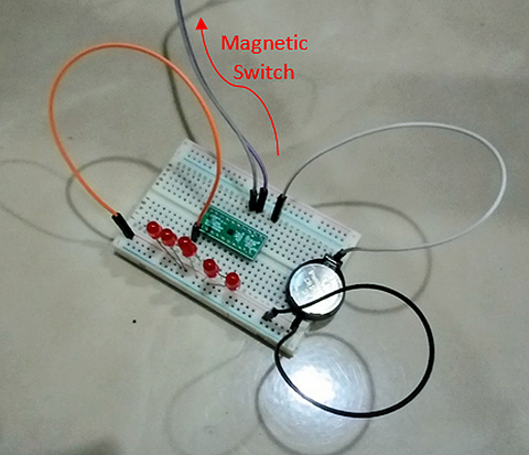 Fig. 8: Prototype Circuit Using LED for 5-bit Output.