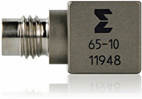 Fig. 1: A miniature triaxial accelerometer incorporates three accelerometers in a single package to simultaneously measure acceleration in three orthogonal axes.