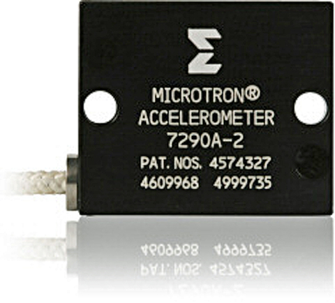 Fig. 2: Variable capacitance accelerometer shown with a popular mounting configuration.