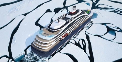 Batteries and gas fuel for Ponant icebreaking cruiser