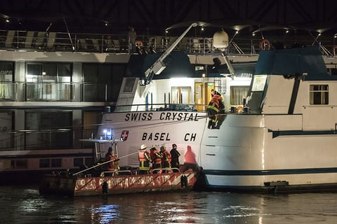 25 injured after passenger ship hits bridge in Western Germany