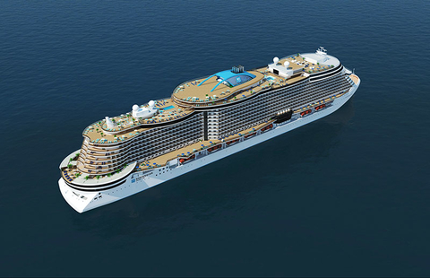 Rendering of Norwegian Cruise Line's new Project Leonardo class of cruise ships