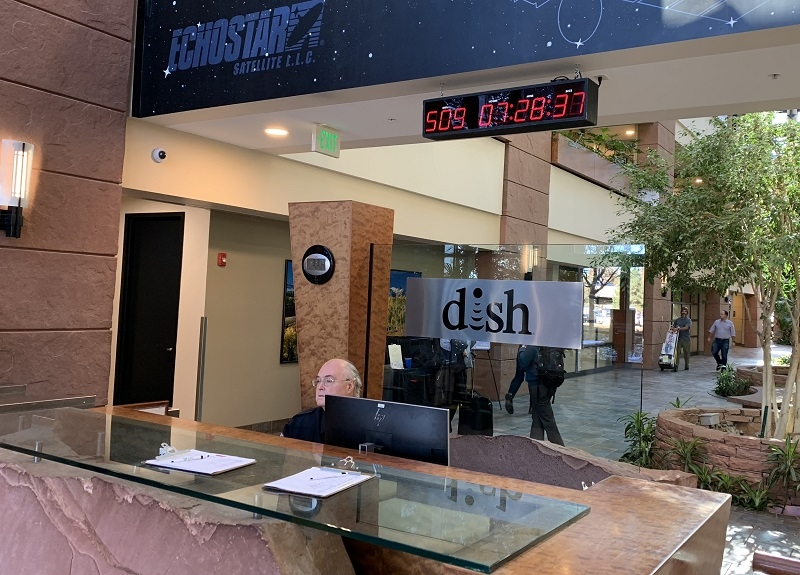 Dish HQ sports network build-out countdown clock