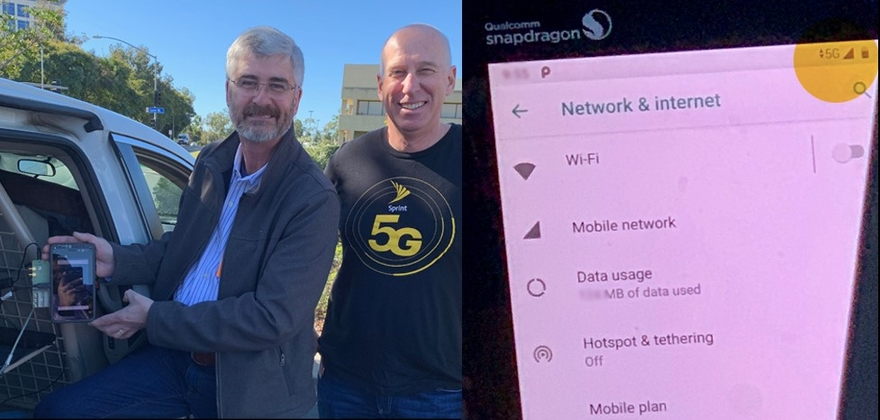 Sprint initiates first 5G data call on 2.5 GHz