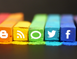 social media logos in photo illustration